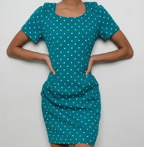 Turquoise Polka Dot Dress!